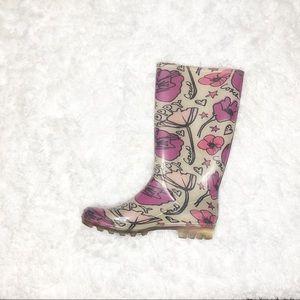 Coach Shoes - Coach Rain Boots 10 Poppy Rubber